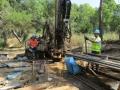 Du 9 au 24 juin : Forage, Echantillonnage et Reconnaissance géologique - Vue générale du chantier